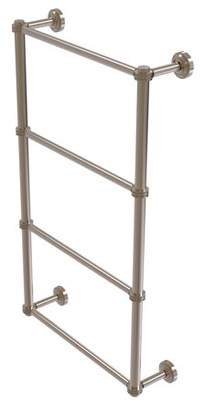 Allied Brass Dottingham Collection 4 Tier 24 Inch Ladder Towel Bar with Dotted Detail