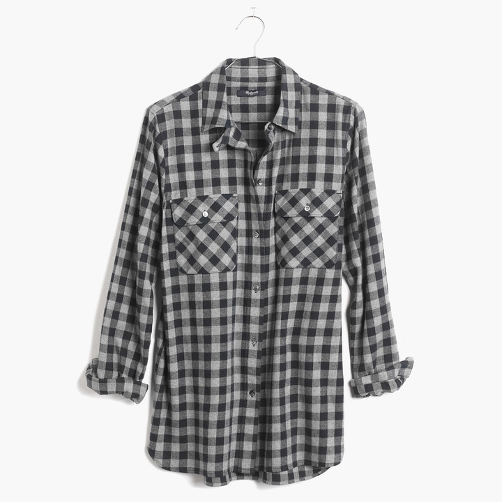 Madewell Flannel Ex-Boyfriend Shirt in Buffalo Check