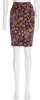 Dolce & Gabbana Floral Velour Skirt