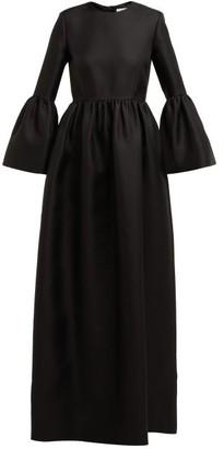 The Row Lora Silk Twill Gown - Womens - Black