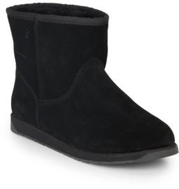 Spindle Merino Wool-Lined Suede Ankle Boots $99 thestylecure.com