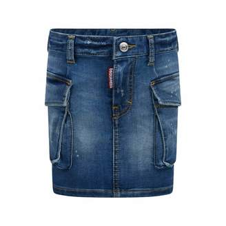 DSQUARED2 Dsquared2Girls Blue Denim Stretch Skirt