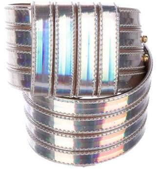 Alexander McQueen Patent Leather Hip Belt