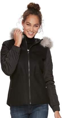 Apt. 9 Women's Faux-Fur Wool Blend Jacket