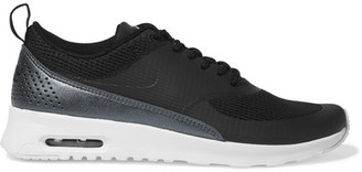 Nike - Air Max Thea Mesh And Faux Leather Sneakers - Black $95 thestylecure.com