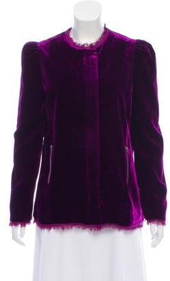 LoveShackFancy Velvet Zip-Up Jacket w/ Tags