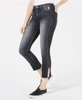 Flying Monkey Ankle-Slit Cropped Skinny Jeans