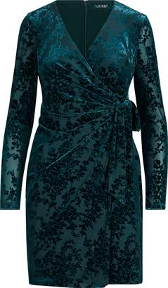 Ralph Lauren Floral Velvet Wrap Dress
