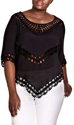 City Chic Sweet Vibe Crochet Top