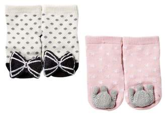 Cuddl Duds Rattle Sock Set - 2 Pairs (Baby Girls)