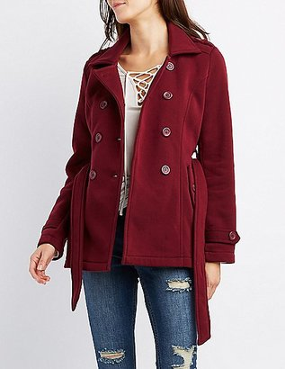 Wool Blend Double-Breasted Trench Coat with Belt $32.99 thestylecure.com