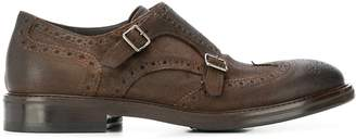 Henderson Baracco brogue detail monk shoes