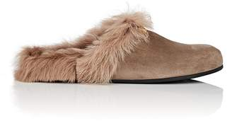 Gucci Men's Horse-Bit Suede Slippers