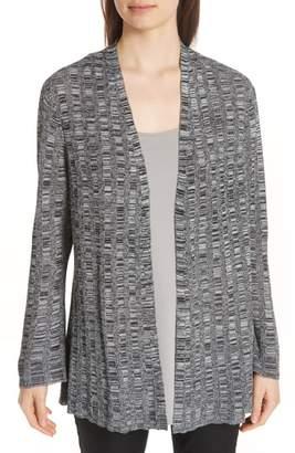 Eileen Fisher Bell Sleeve Silk Blend Cardigan