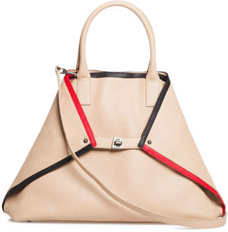 Akris Ai Medium Linia Treatment Top-Handle Tote Bag