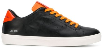 Leather Crown two-tone sneakers