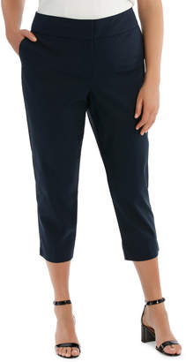 Cotton Sateen Cropped Pant