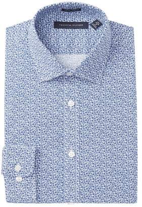 Tommy Hilfiger Floral Print Slim Fit Stretch Dress Shirt