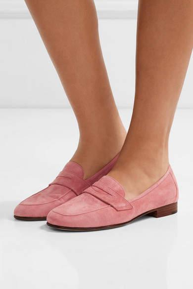 Mansur Gavriel - Classic Suede Loafers - Pink 4