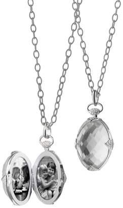 Monica Rich Kosann Oval Stone Locket Necklace