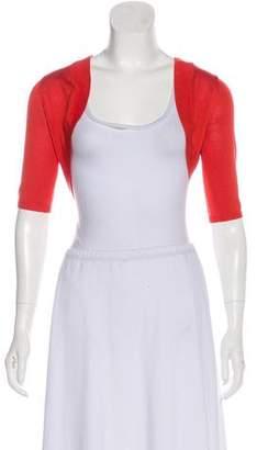 Lela Rose Silk Crop Cardigan