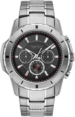 Caravelle New York Men's Chronograph StainlessSteel Watch