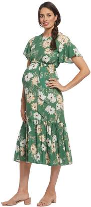 Maternity Crepe Rayon Reiss Dress - Zinnia,