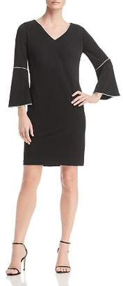 Calvin Klein Piped Bell-Sleeve Dress - 100% Exclusive