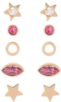Juicy Couture Set Of 5 Pink Stargazer Earrings