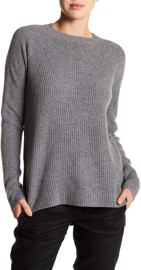 VINCE. Crew Neck Long Sleeve Wool Blend Sweater 3