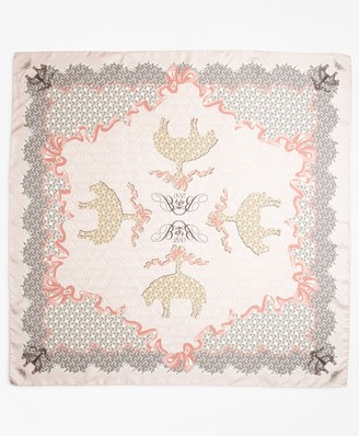 Brooks Brothers Limited Edition 200th Anniversary Silk Square Scarf
