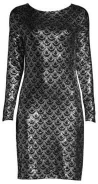 MICHAEL Michael Kors Glitter Print Sheath Dress