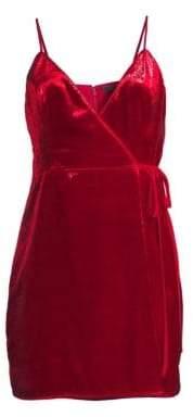 BCBGMAXAZRIA Shimmer Velvet Minidress