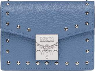 MCM Patricia Card Holder In Studded Outline Leather