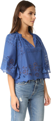 Sea Flutter Sleeve Peasant Top $325 thestylecure.com