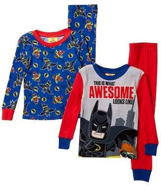 Lego SGI Apparel Batman Awesome Cotton PJs - Set of 2 (Little Boys & Big Boys)
