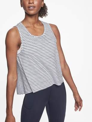 Athleta Chi Striped Muscle Tank