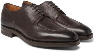 Edward Green Dover Textured-Leather Derby Shoes - Brown