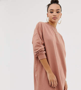Missguided oversize sweater in camel