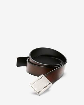 Express Reversible Brushed Plaque Belt