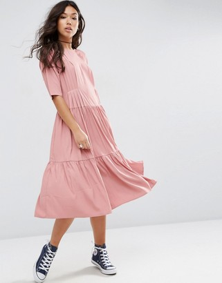 ASOS Pleat Front Smock City Maxi Dress $64 thestylecure.com