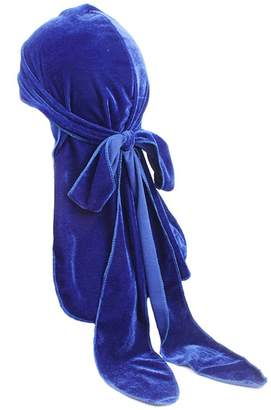 Iman Super Velvet Durag Extra Long-Tail and Wide Straps Headwraps Pirate Cap