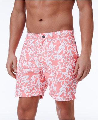 """Cole Men's Floral-Print 6"""" Swim Trunks $54 thestylecure.com"""