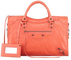 Balenciaga Classic City Bag, Coral