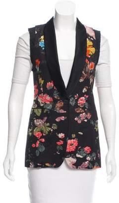 Dries Van Noten Embroidered Shawl Collar vest