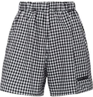 Prada Vichy check shorts