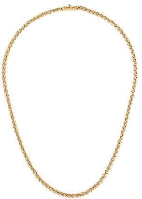 Tiffany & Co. 14K Woven Chain Necklace