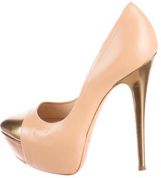 Casadei Leather Peplum Pumps $245 thestylecure.com