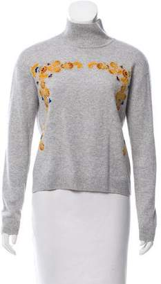 Magaschoni Embroidered Cashmere Sweater