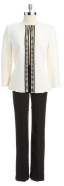 Tahari ARTHUR S. LEVINE Three-Piece Pearl Pants Suit